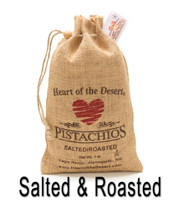 Pistachios Burlap Bag (Salted & Roasted In Shell) 8 oz.