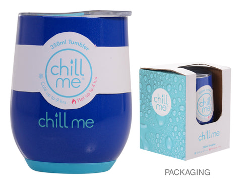 Chill Me Pacific Blue 350ml Stainless Steel Tumbler