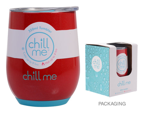 Chill Me Red Earth 350ml Stainless Steel Tumbler