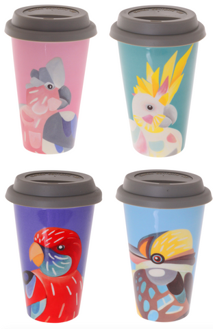 Chris Riley Australian Birds Travel Mug