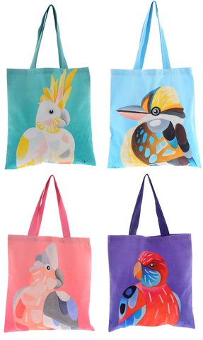Chris Riley Australian Birds Tote Bag