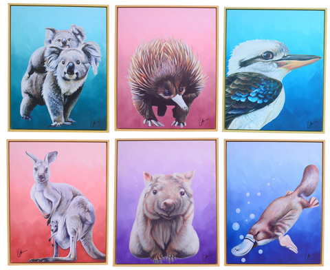 Chris Riley Australian Animals Canvas