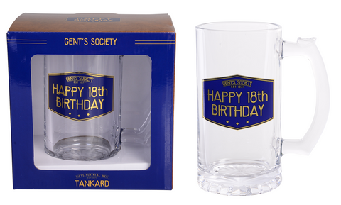 Gent's Society Tankard- 18th Birthday