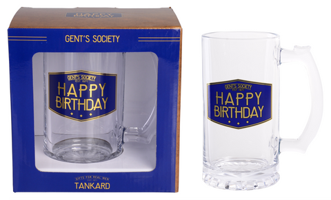 Gent's Society Tankard- Happy Birthday