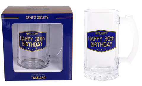 Gent's Society Tankard- 30th Birthday