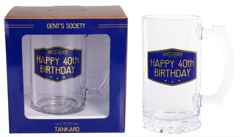 Gent's Society Tankard- 40th Birthday