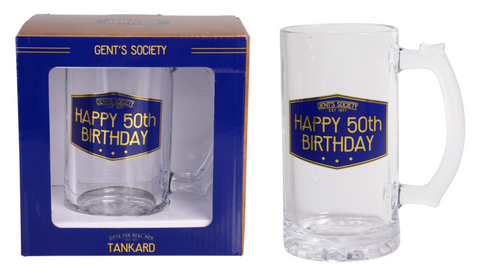 Gent's Society Tankards- 50th Birthday