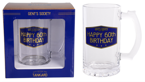 Gent's Society Tankards- 60th Birthday