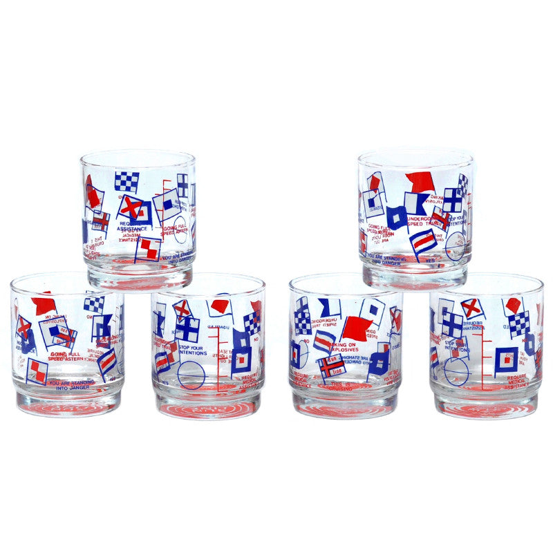 Vintage Sun Line Nautical Rocks Glasses, The Hour Shop