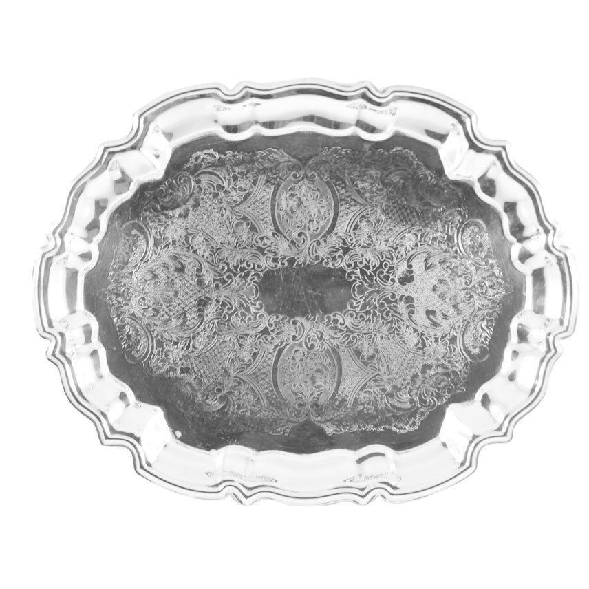 Vintage Leonard Silverplated Oval Tray, The Hour Shop
