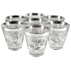 Vintage Georges Briard Sterling Silver Rocks Glasses, The Hour Shop