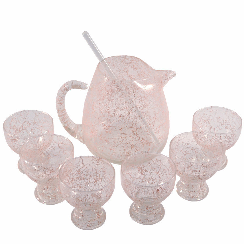 The Hour Shop, Pink Spaghetti String Pitcher Set