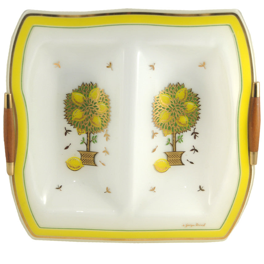 Georges Briard Lemon Tree Divided Tray, The Hour Shop