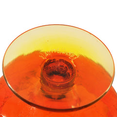 Vintage Blenko Amberina Crackle Glass Bowl, The Hour Shop