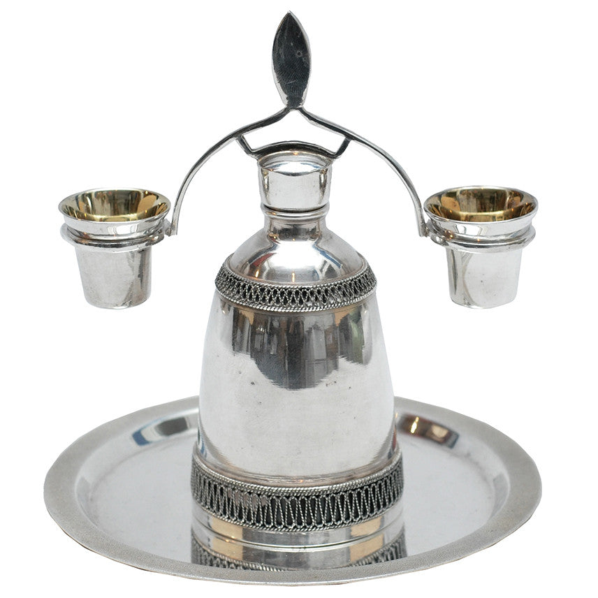 Silverplate Wedding Decanter Set, The Hour Shop