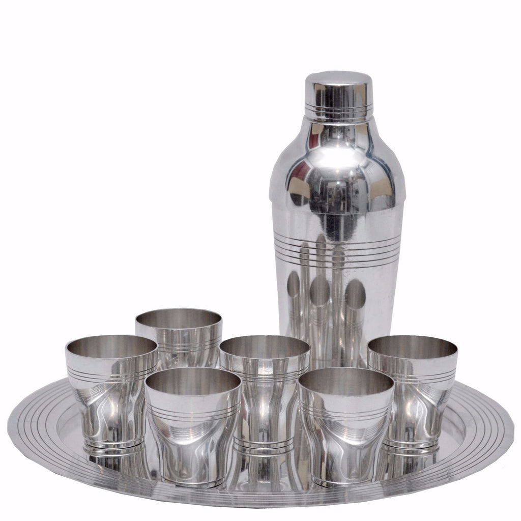 Vintage Art Deco French Cocktail Shaker Set, The Hour