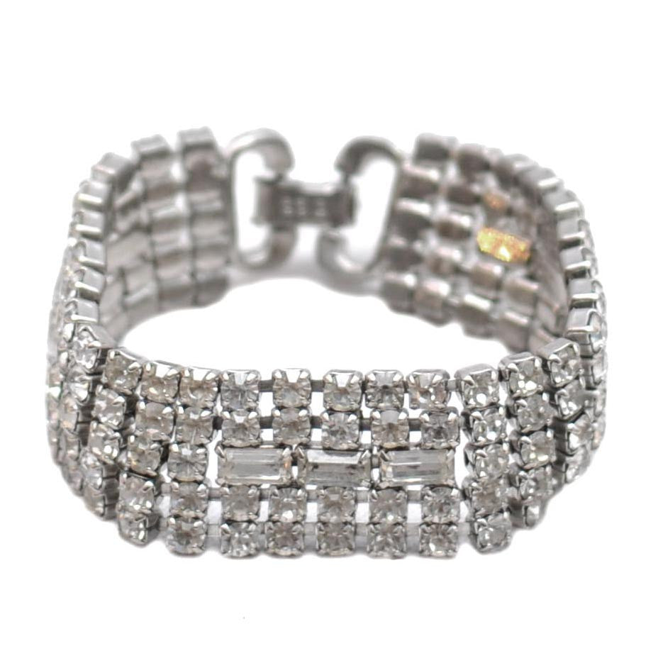 The Hour Shop, Weiss Clear Rhinestone Bracelet