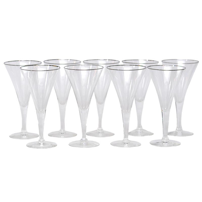 The Hour Shop, Platinum Rim Cocktail Glasses