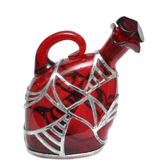 The Hour Shop Vintage Barware Decanter, Art Deco Ruby Red Gin Decanter