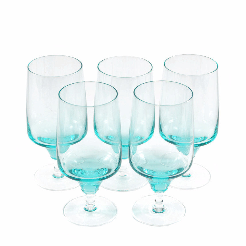 The Hour Shop, Sasaki Aqua Cocktail Glasses