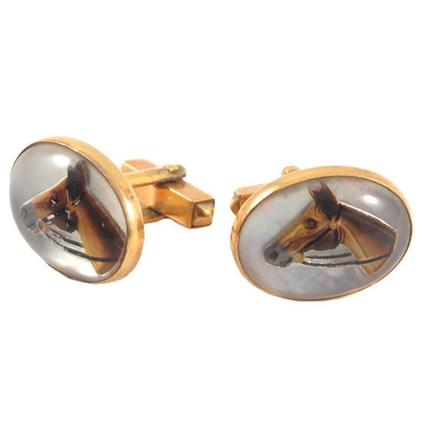 The Hour Shop, Swank Horse Head Cufflinks