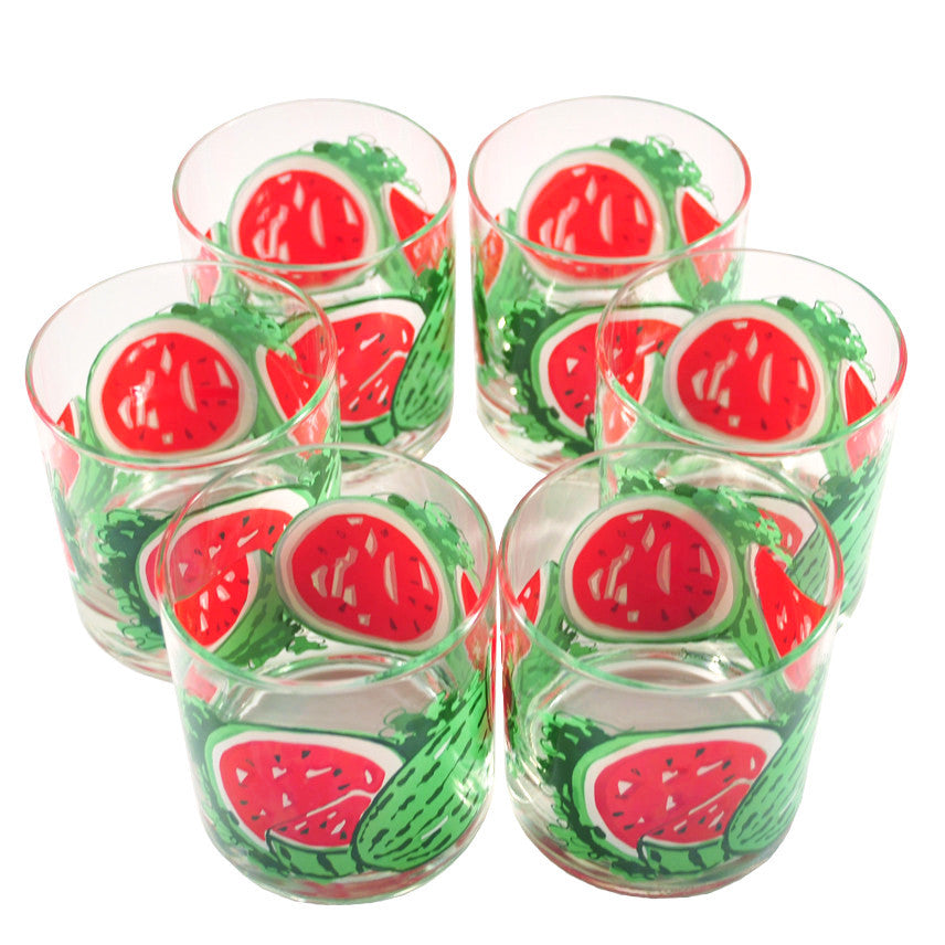 The Hour Shop, Georges Briard Watermelon Rocks Glasses
