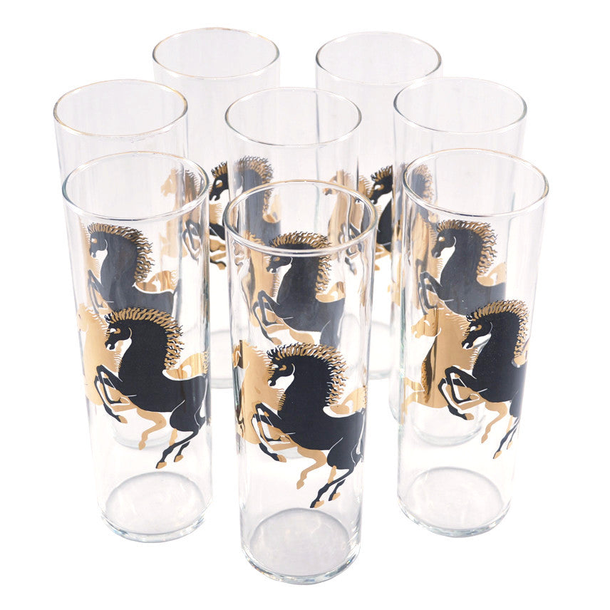 The Hour Shop, Black and Gold Stallions Glasses