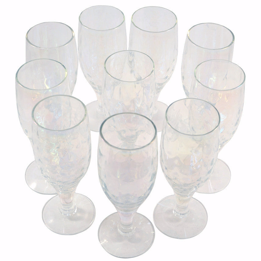 Vintage Draping Iridescent Port Glasses, The Hour