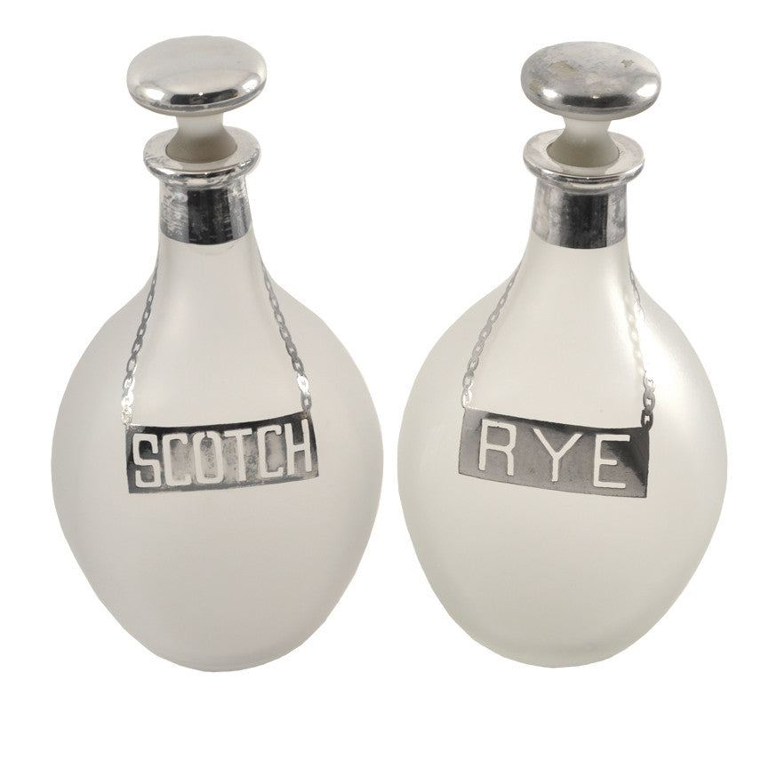 The Hour Shop, Rye & Scotch Pinched Decanters