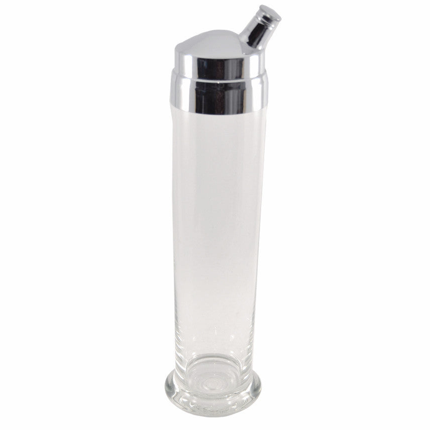Clear Glass Empire Cocktail Shaker, The Hour Shop