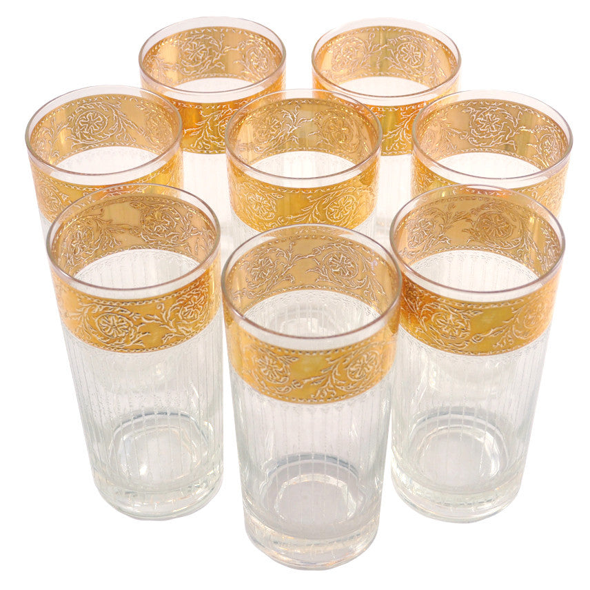 Vintage Culver Tyrol Gold Band Collins Glasses, The Hour
