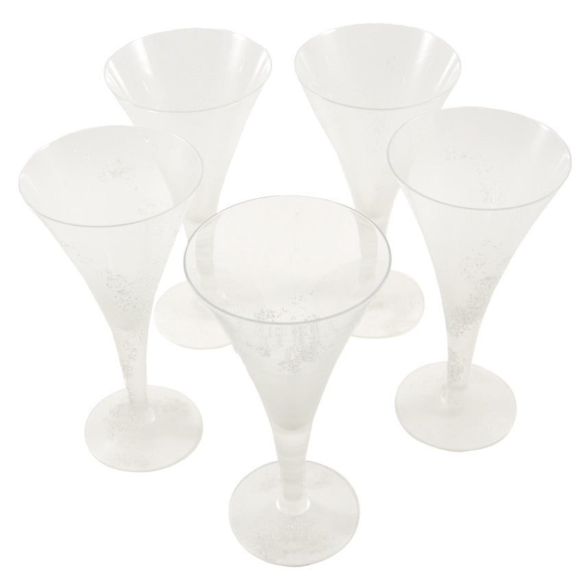 Vintage D. Thorpe Textured Frost Goblets, The Hour Shop