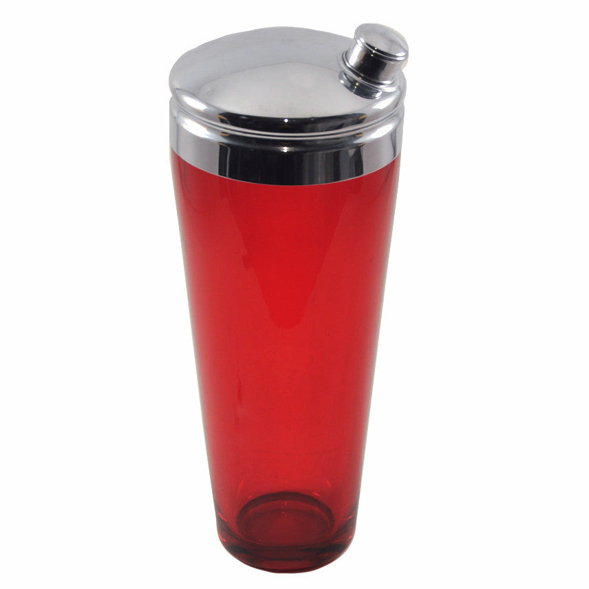Vintage Ruby Red Glass Cocktail Shaker, The Hour Shop