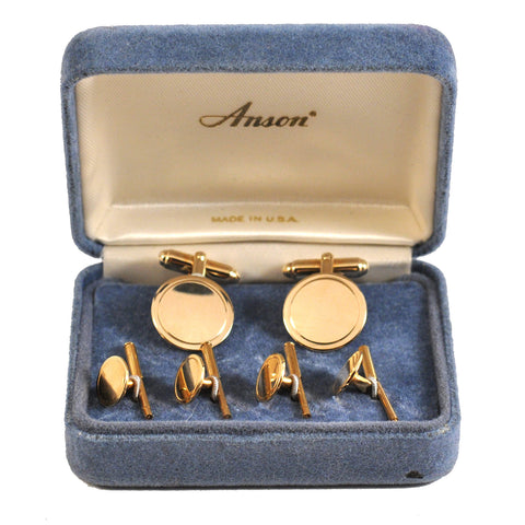 Anson Gold Cufflinks Set