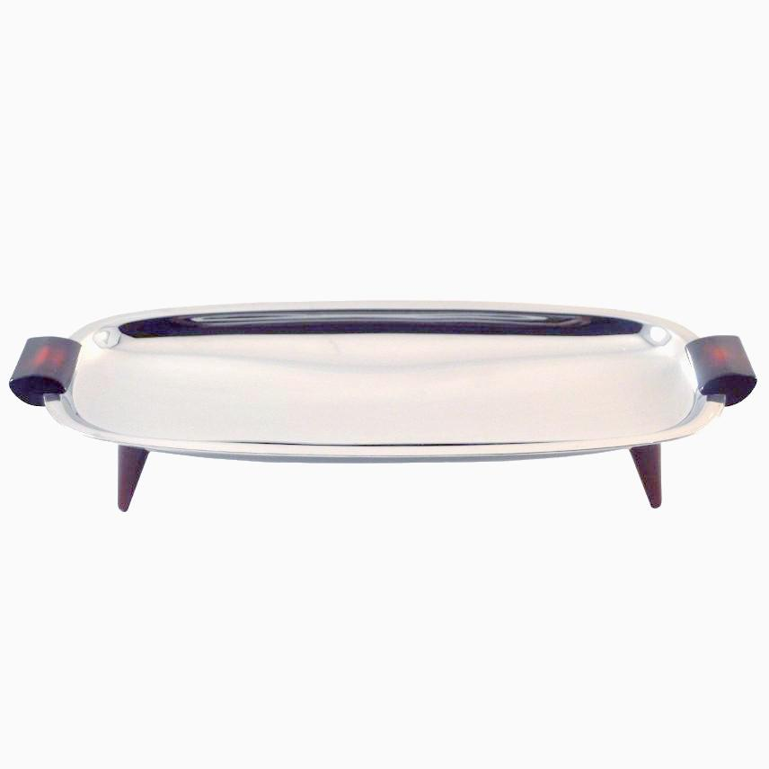 The Hour Shop, Glo Hill Cranberry Footed Tray