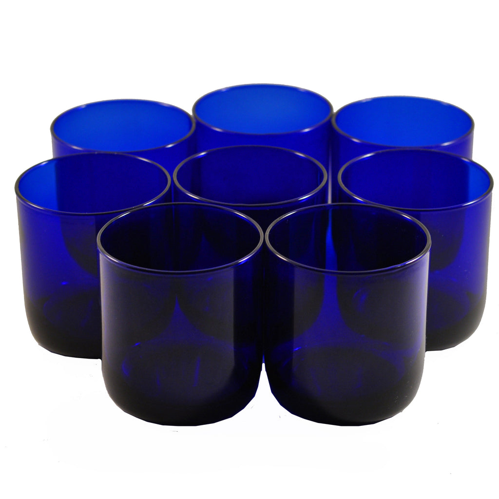 Vintage Libbey Cobalt Blue Rocks Glasses, The Hour