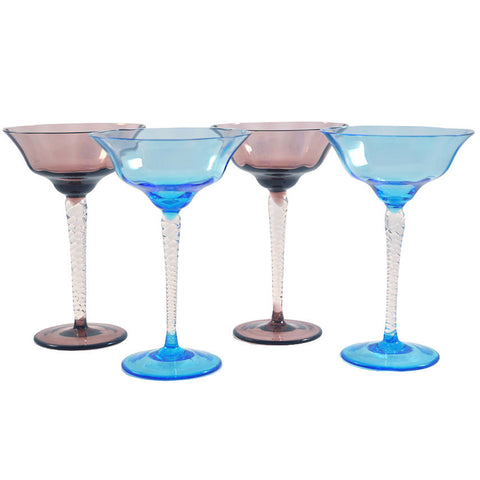 Amethyst & Blue Cup Coupes