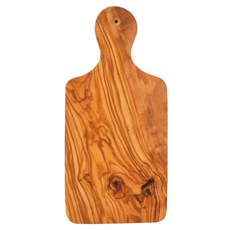 Olive Wood Paddle Cutting Board, The Hour Shop Barware