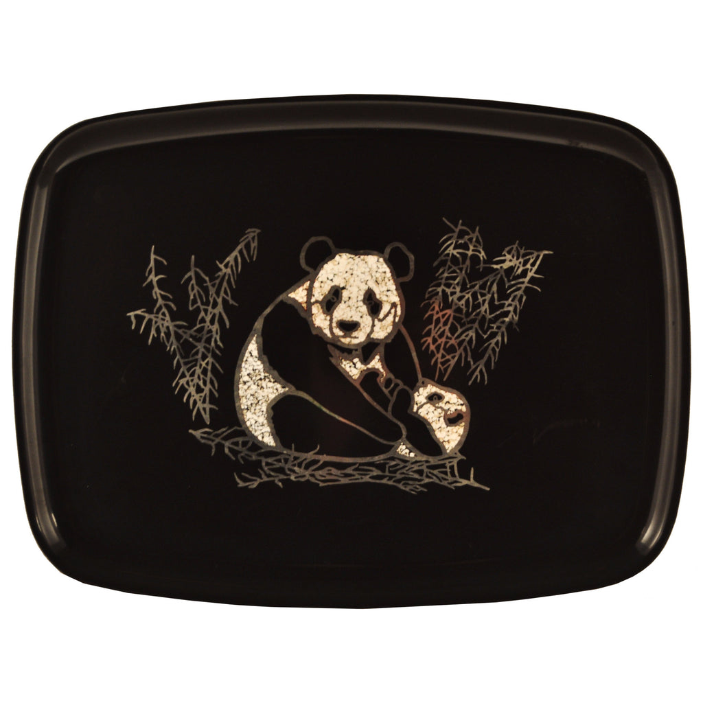 Vintage Couroc Silver Pandas Cocktail Tray, The Hour Shop