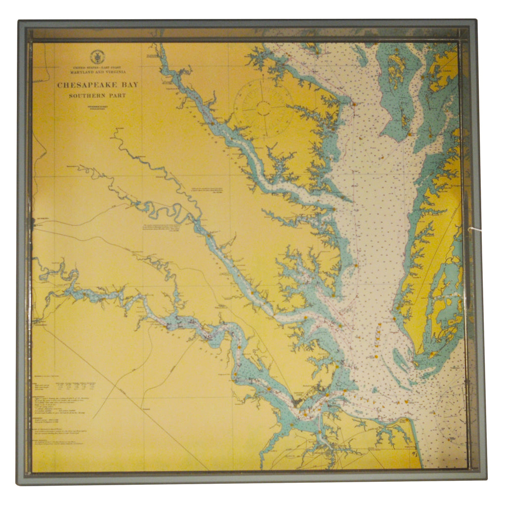 Chesapeake Bay Map Lacquer Tray
