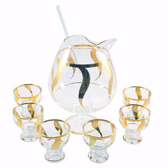 Gold Swirl Cocktail Set
