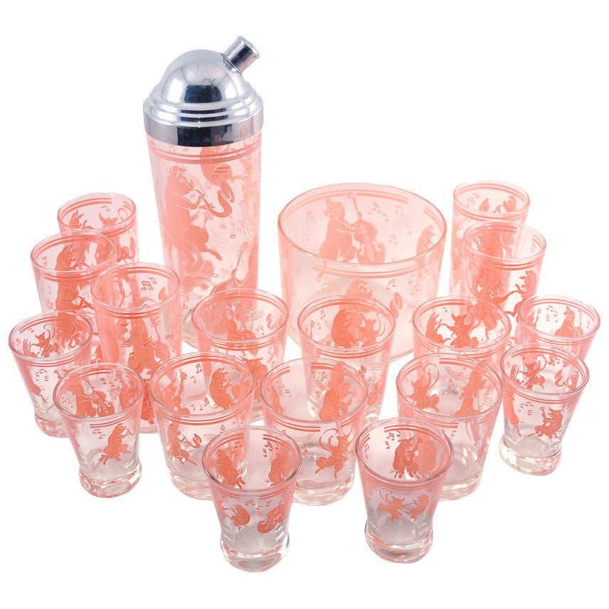 The Hour Shop, Pink Musical Pigs Cocktail Shaker Set