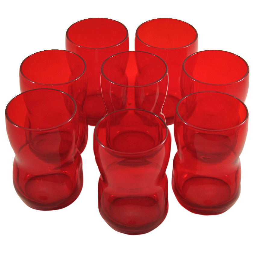 Red Pinched Tumblers