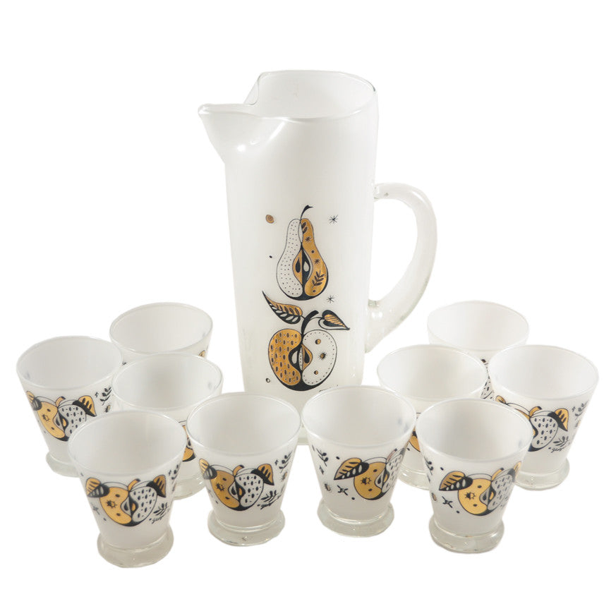 The Hour Shop, Georges Briard Apples Cocktail Pitcher Set