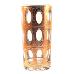 Vintage Culver Pisa Gold Collins Glasses, The Hour Shop