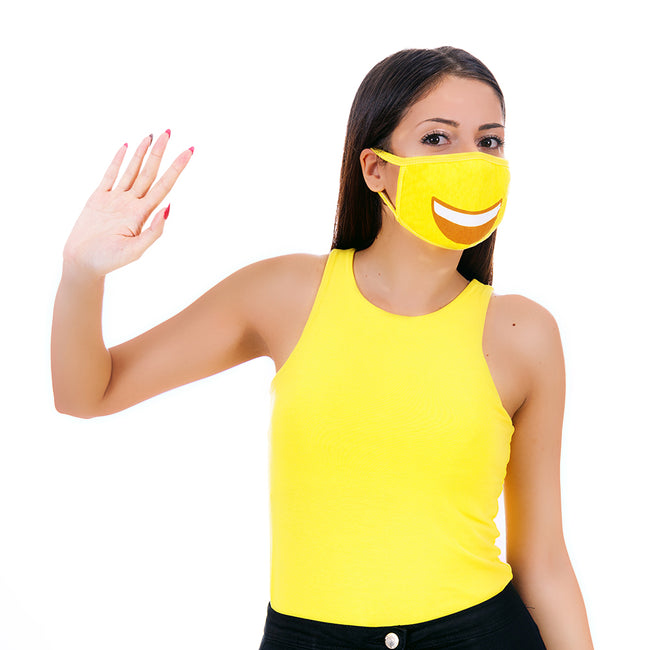 MojiGear™ Grin Face Mask