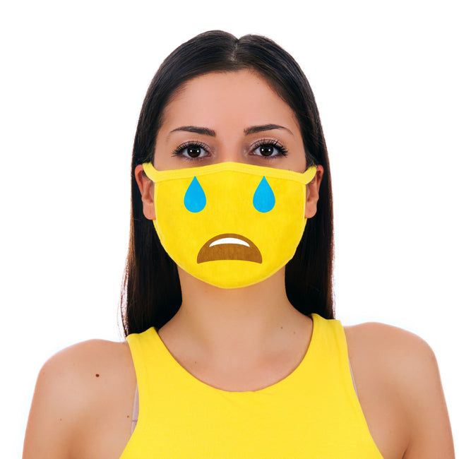 MojiGear™ Cry Face Mask