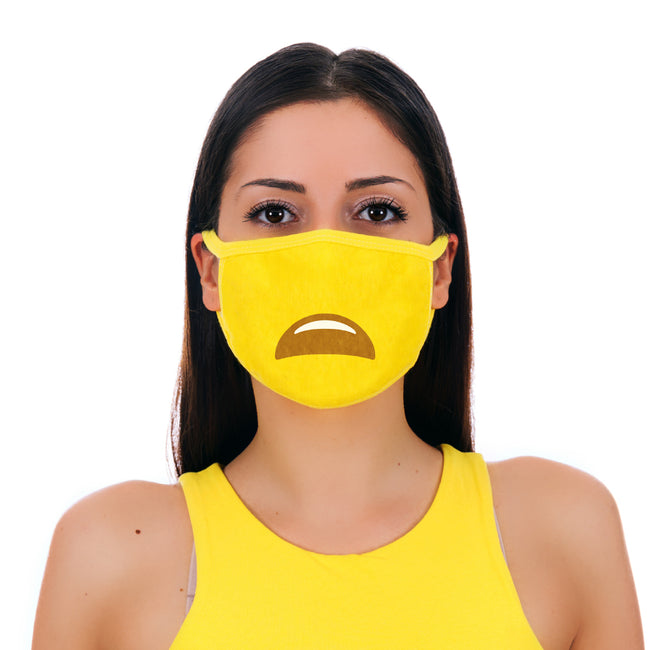 MojiGear™ Sad Face Mask