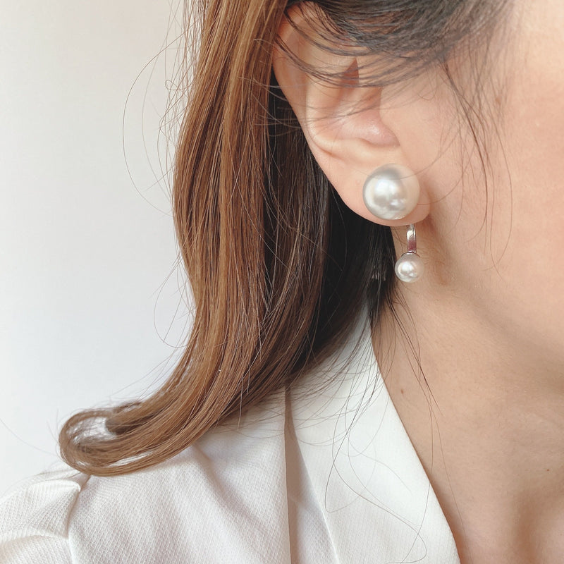 two pearl curl pierce - beller