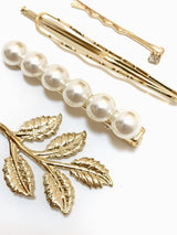 leaf & pearl pin set - beller